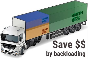 Backloading Quotes for moving interstate